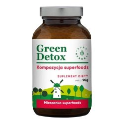 Green Detox Kompozycja Superfoods, Proszek., Aura Herbals, 90g