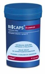 BICAPS B COMPLEX MAX, Witaminy z Grupy B, Formeds, 60 kapsułek