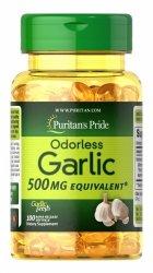 Czosnek Bezzapachowy 500 mg, Garlic, Puritan's Pride, 100 kapsułek
