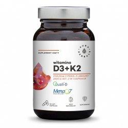 Witamina D3 2000 IU + K2, Aura Herbals, 90 kapsułek