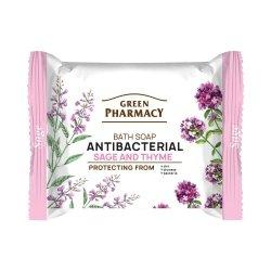 Мыло с шалфеем и тимьяном, антибактериальное, Зеленая аптека