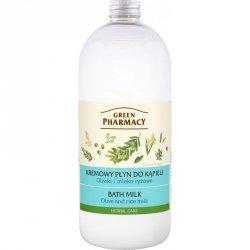 Крем-пена для ванн Оливки и Рисовое Молоко, Зеленая аптека