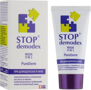 Maseczka 9 w 1 Purederm Stop Demodex (Demodekoza, Nużyca, Trądzik), 50 ml