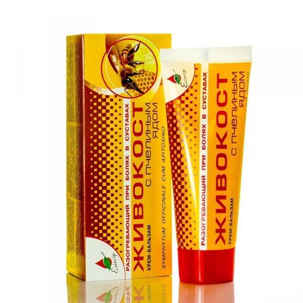 Balm Cream Comfrey with Apitoxin, Elixir