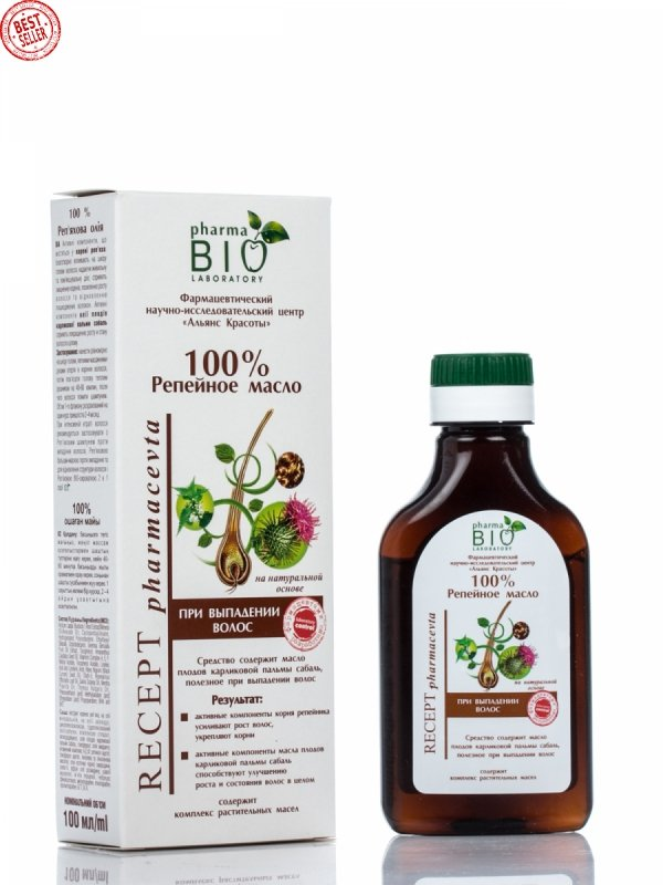 Olej z Korzenia Łopianu (Łopianowy), 100 ml, Wypadanie Włosów