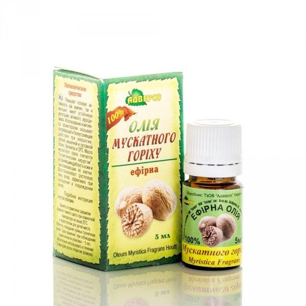 Olejek z Gałki Muszkatołowej, 5 ml 100% Naturalny Adverso