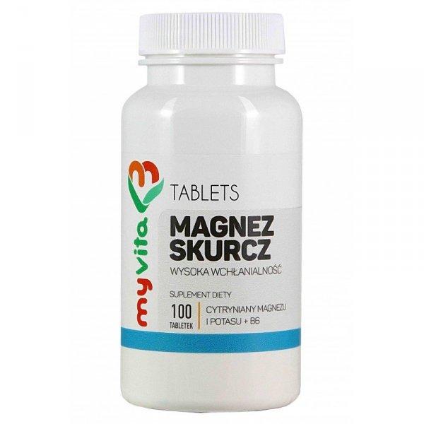 Magnez Skurcz (Magnez+Potas+B6), Tabletki, MyVita
