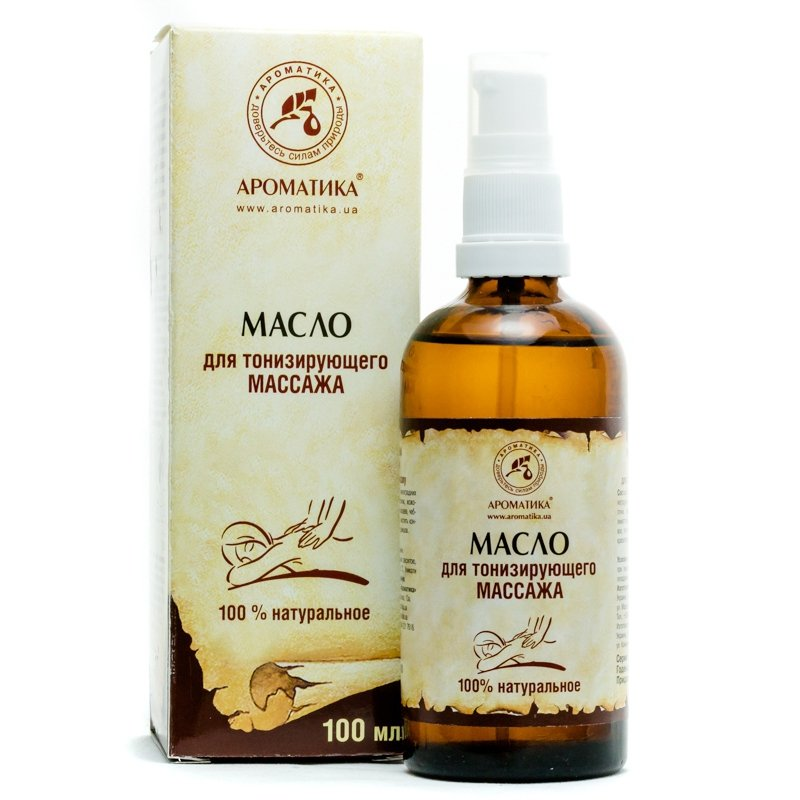 Toning Massage Oil, 100% Natural