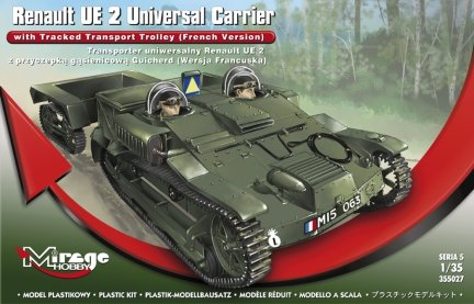 Mirage 355027 1/35 Renault UE 2 Universal Carrier Carrier with Tracked Transport Trolley (French Version)