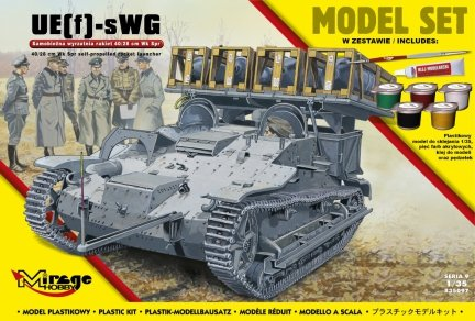 Mirage 835097 1/35 [MODEL SET] UE(f)-sWG, 40/28cm Wk Spr self-propelled rocket launcher