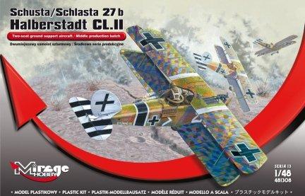 Mirage 481308 1/48 Schusta/Schlasta 27b Halberstadt CL.II Dwumiejscowy samolot szturmowy / Środkowe serie produkcyjne