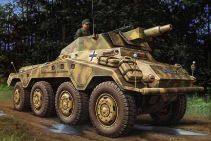 Hasegawa MT54 1/72 Sd.Kfz.234/3 8-Rad Schwere Panzerspahwahen 'STUMMEL' (Germany Army Armoured Patrol Car)