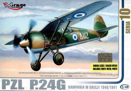Mirage 48108 1/48 PZL P.24G 'Kampania w Grecji 1940/1941' [Re-edycja z częściami z Białego Metalu]