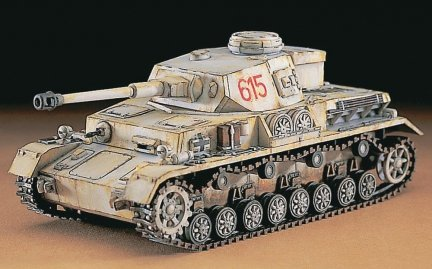 Hasegawa MT43 1/72 Pz.Kpfw. IV ausf. G (German Army Battle Tank)