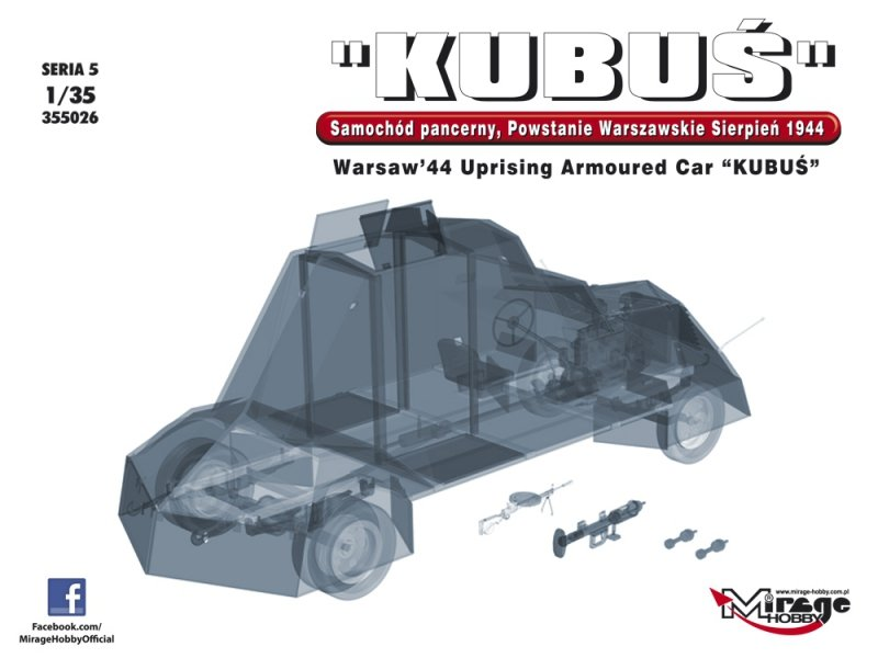 "Mirage 355026 1/35 Warsaw '44 Uprising Armoured Car ""KUBUŚ"""