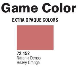 Game Color (72152) Extra Opaque | Heavy Orange 17 ml.