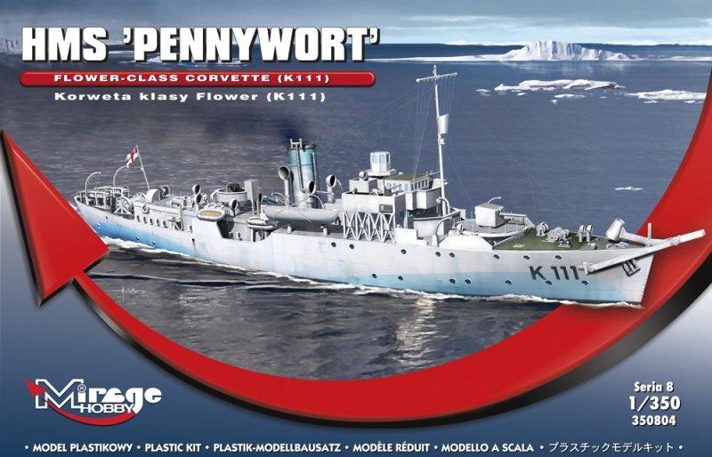 Mirage 350804 1/350 HMS 'PENNYWORT' Flower-Class Corvette (K111)