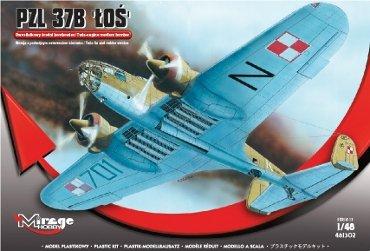 Mirage 481302 1/48 PZL-37B Łoś samolot bombowy