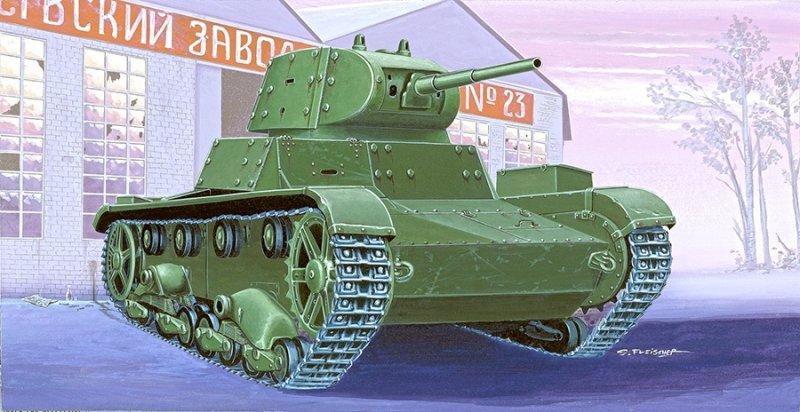 72613-CZOŁG LEKKI T-26C Z DODATKOWYM OPANCERZENIEM  light tank t-26C applique armour  Cat. no. 72613  Bar Code: 5901461726131