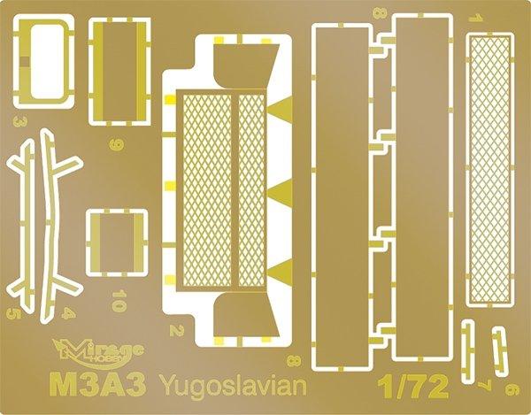 Mirage 720001 1:72 Czołg lekki M3A3 [Wersja Jugosłowiańska] Limited Edition