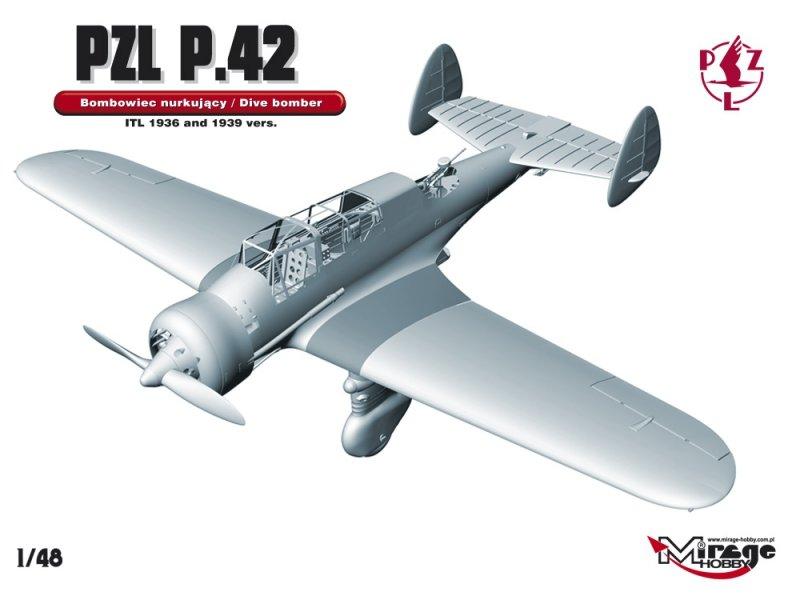 Mirage 481320 1/48 PZL P.42  [POLSKI LEKKI BOMBOWIEC NURKUJĄCY]