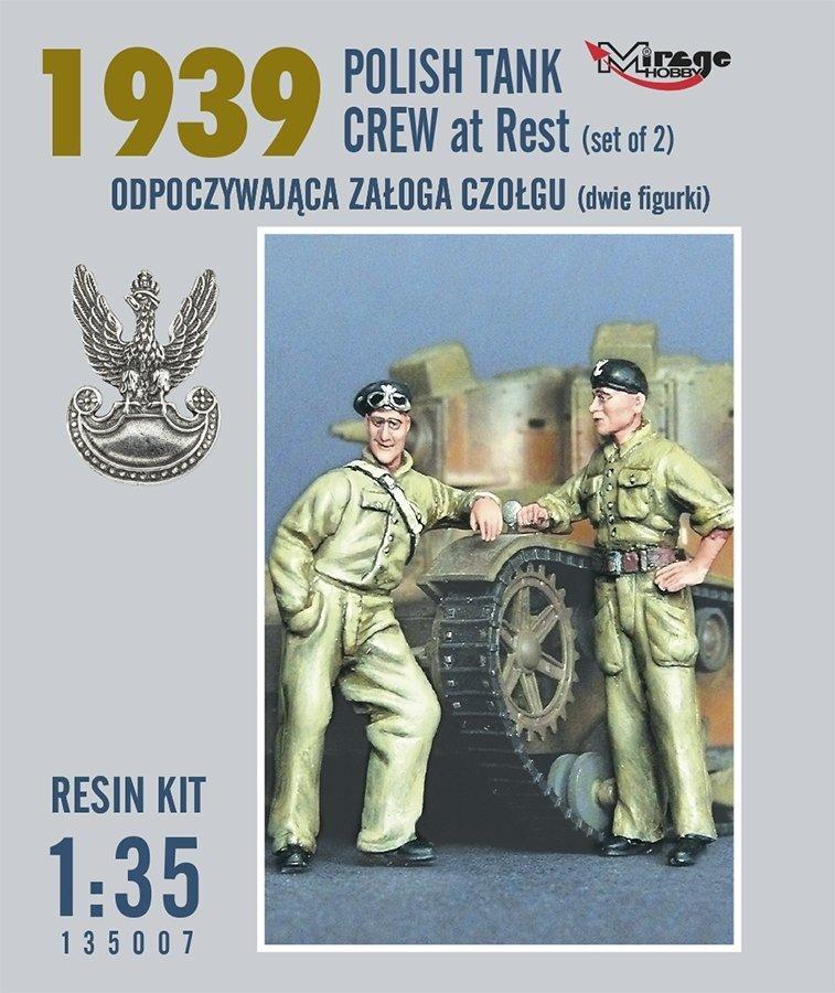 Mirage 135007 1:35 Odpoczywająca Załoga Czołgu (Tks/7tp - Dwie Figurki) (Rok 1939) [resin Kit]