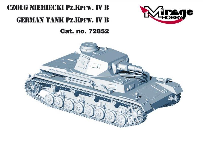 Mirage 72852 1/72 German Tank Pz.Kpfw. IV Ausf. B '21 Panzerdivision (neu) 1943'