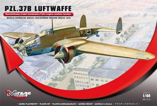 Mirage 481312 1/48 PZL.37B LUFTWAFFE 'Wersja Niemiecka Okecie 1940'