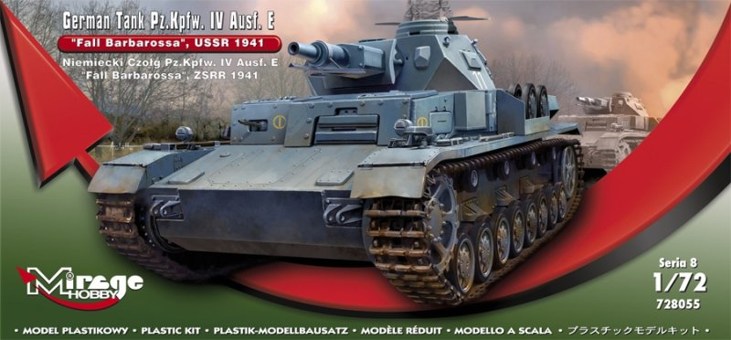 Mirage 728055 1/72 German Tank Pz.Kpfw. IV Ausf. E  'Fall Barbarossa' USSR 1941
