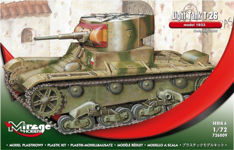 Mirage 726009 1/72 T-26 model 1933 Czołg lekki