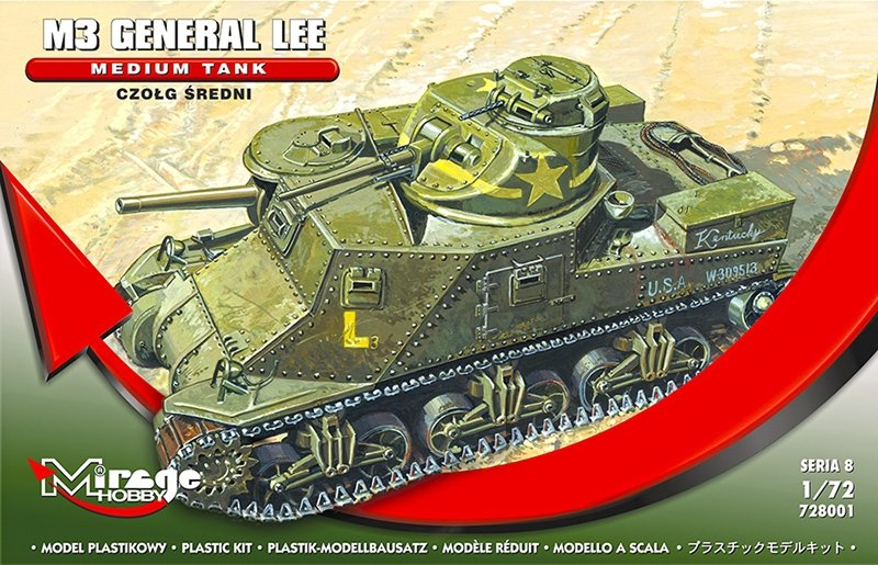 Mirage 728001 1/72 Czołg Sredni M3 Generał Lee
