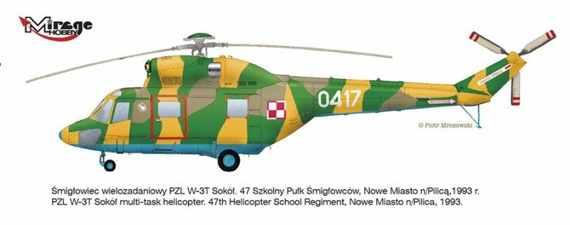 Mirage 725055 1:72 Helikopter PZL W-3T SOKÓŁ [Wer. Transportowo-Ratownicza]
