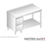 Stół z szufladami i półką DM 3114 szerokość: 600 mm (1000x600x850)