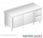 Stół z szafką i szufladami DM 3126 szerokość: 700 mm (1400x700x850)