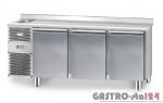 Stół chłodniczy ze zlewozmywakiem z płytą wierzchnią nierdzewną DM 91003 1825x700x850