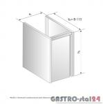 Moduł z drzwiami zawiasowymi pod zlewozmywak DM 3231.1 szerokość: 585 mm  (500x585x650)