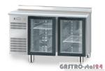 Stół chłodniczy z drzwiami przeszklonymi bez płyty wierzchniej DM 94005 1325x700x810