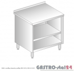 Stół z szafką otwartą i półką DM 3115 szerokość: 700 mm (600x700x850)