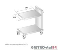 Wózek na tace z podnoszona platformą DM 3417 szerokość: 765 mm (515x765x1020)