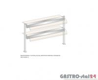Nadstawka z szybą giętą dwupoziomowa z grzaniem i oświetleniem DM-94590 G-E wym. 1912x410x770
