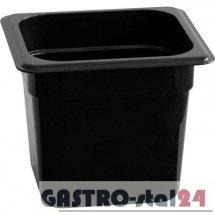 Pojemnik GN 1/6 czarny poliwęglan 176x162  (H-65 mm)