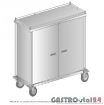 Wózek do transportu tac termoizolacyjnych (drzwi chowane do środka) do transportu wewnętrznego DM 3460 1552x630x1630 W - 30 tac