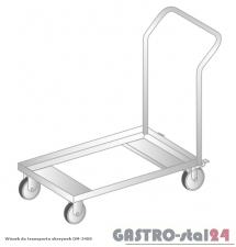 Wózek do transportu skrzynek DM 3400 szerokość: 450 mm  (800x450x850)