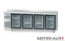 Stół chłodniczy z drzwiami przeszklonymi bez płyty wierzchniej nierdzewnej DM 94008 2325x600x850