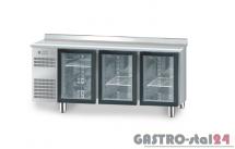 Stół chłodniczy z drzwiami przeszklonymi z płyta wierzchnią nierdzewną DM 94006 1825x600x850