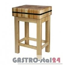 Kloc masarski drewniany na podstawie drewnianej 400x400x100