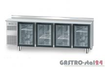Stół chłodniczy z drzwiami przeszklonymi bez płyty wierzchniej nierdzewnej DM 94008 2325x700x850