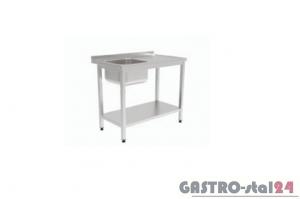 Stół ze zlewem i półką GT 3201 600x600x850mm