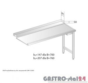 Stół wyładowczy do zmywarek DM 3265 szerokość: 760 mm (600x760x850)