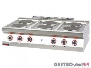 Kuchnia elektryczna 6 płyt 700.KE-6
